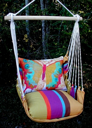 Cafe Soleil Paper Butterfly Hammock Chair Swing Set - Click to enlarge