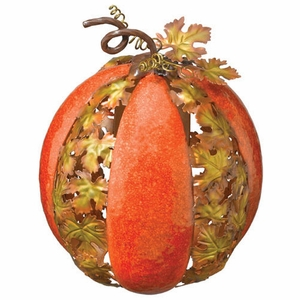 Metal Leaf Pumpkin - Large - Click to enlarge