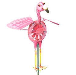 Springee Spinners Flamingo Garden Stake - Click to enlarge