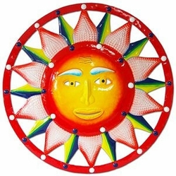 Red White Blue Sun Wall Decor - Click to enlarge