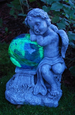 Sleeping Garden Cherub LunaLite - Click to enlarge