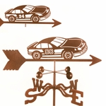 Race Car Weathervane