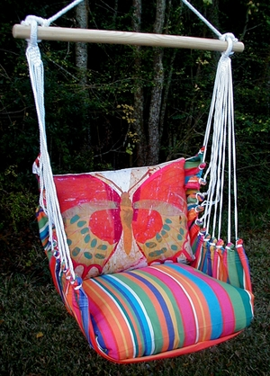Le Jardin Paper Butterfly Hammock Chair Swing Set - Click to enlarge