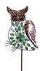 Large Green Filigree Owl Stakes w/Leaves