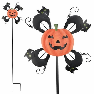 Halloween Pumpkin Garden Spinner - Click to enlarge
