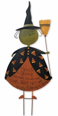 Candy Corn Witch Stake - Click to enlarge