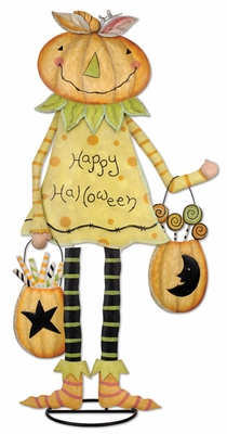 Happy Halloween Pumpkin Girl - Click to enlarge