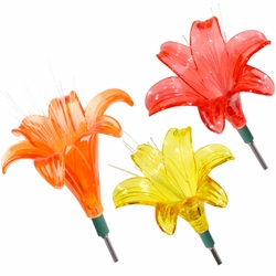 Solar Lily Flowers (Set of 3) - Click to enlarge