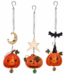 Pumpkin and Bat Bouncies (Set of 3) - Click to enlarge