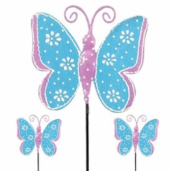 Blue Butterfly Picks (Set of 6) - Click to enlarge