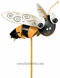 Metal Bee Garden Stake - Click to enlarge