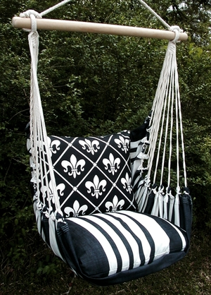 Black French Quarter Hammock Chair Swing Set - Click to enlarge