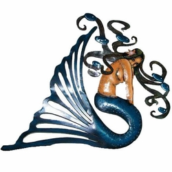 Metal Mermaid Decor - Click to enlarge