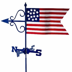 Americana Flag Weathervane - Click to enlarge