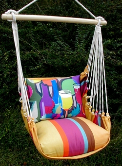 Cafe Soleil Wine Bottles Hammock Chair Swing Set - Click to enlarge
