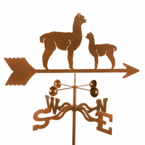 Alpaca & Baby Weathervane - Click to enlarge