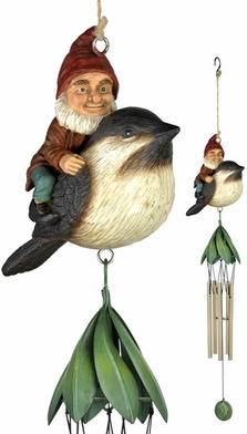 Riding Gnome Wind Chime - Click to enlarge