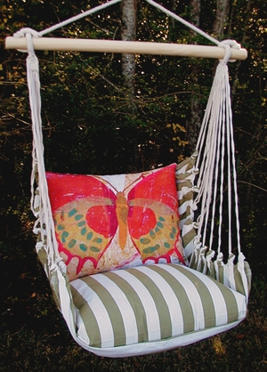Summer Palm Paper Butterfly Hammock Chair Swing Set - Click to enlarge