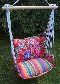 Le Jardin Wild Flower Hammock Chair Swing Set - Click to enlarge