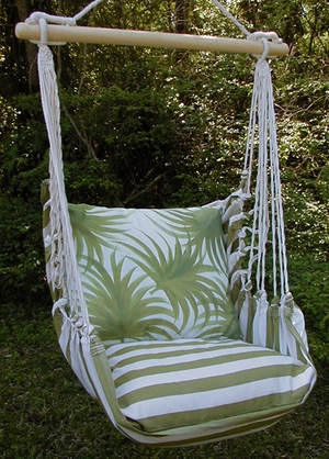 Summer Palm Tree Leaves Hammock Chair Swing Set - Click to enlarge