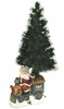 "28"" Fiber Optic Christmas Tree - Santa on Train"