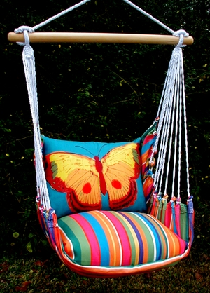 Le Jardin Blue Butterfly Hammock Chair Swing Set - Click to enlarge