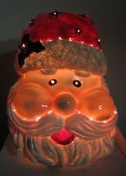 Fiber Optic Christmas Santa Claus Head - Click to enlarge