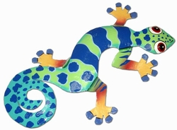 Blue Dotted Gecko Wall Decor - Click to enlarge