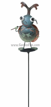 Green Beetle Garden Stake - Click to enlarge