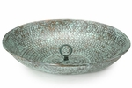 Rain Chain Basin - Blue Verde