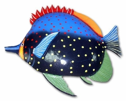 Red Fin Hump Fish Wall Decor - Click to enlarge