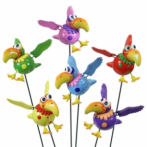 Silly Bird Garden Stakes (Set of 6) - Click to enlarge