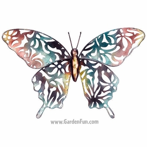 Blue Lace Butterfly Wall Decor - Click to enlarge