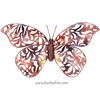 Copper Lace Butterfly Wall Decor