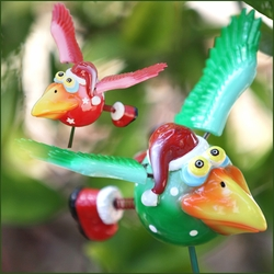 Dodo Birds Holiday Stake (Set of 6) - Click to enlarge
