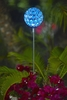 Glam Ball Powered Garden Stake - Blue