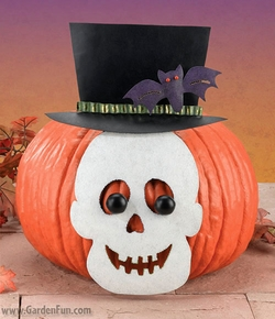 Pumpkin Kit - Skull Decor - Click to enlarge