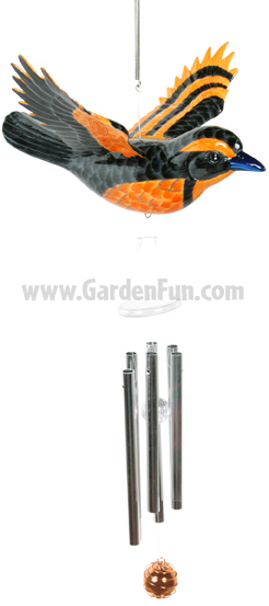 WindyWings Oriole Wind Chime by Exhart - Click to enlarge
