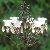 Small Hannah Series Chandelier - Bronze