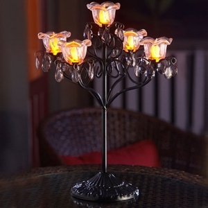 Anywhere 5 Flame Hannah Candelabra - Black - Click to enlarge