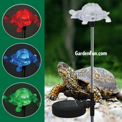 Solar Turtle Light Garden Stake - Click to enlarge
