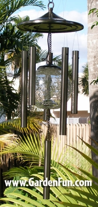 Silver Solar Wind Chime - Click to enlarge