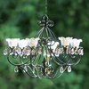 Small Hannah Series Chandelier - Black