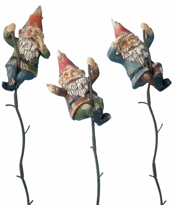 Climbing Gnomes on Vines (Set of 3) - Click to enlarge