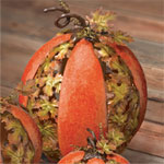 Metal Leaf Pumpkin - Large