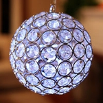 Medium Glam Ball LED - White