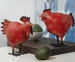Red Rooster & Hen (Set of 2)