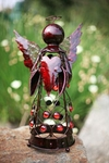 Small Filigree Angel Statue - Red