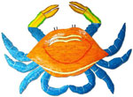 Large Pink & Blue Crab
