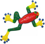 Red Green Frog Wall Art